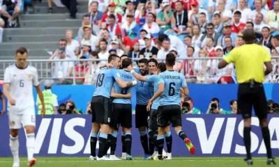 uruguay russia, esultanza, mondiali 2018, suarez