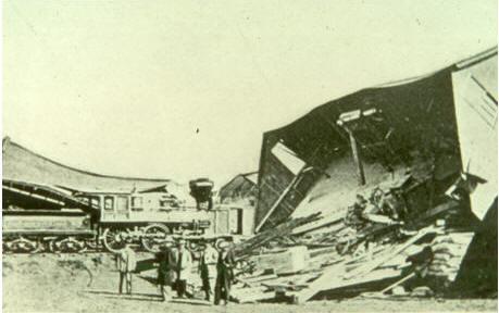 1868 Hayward earthquake damage