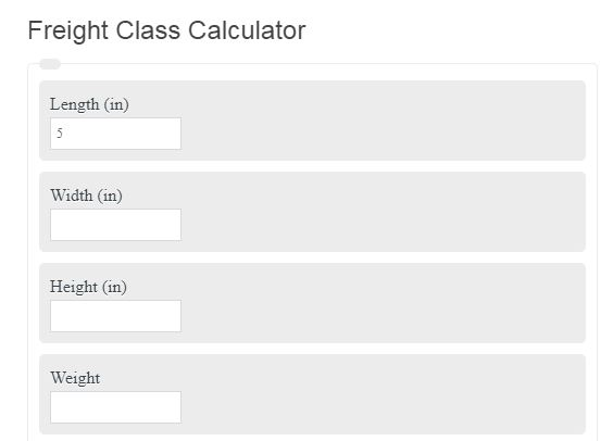 Freight Class Calculator