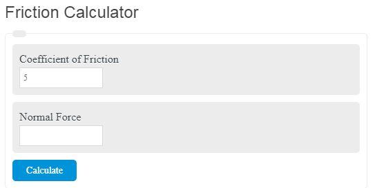 Friction Calculator