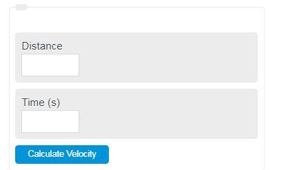 Velocity Calculator