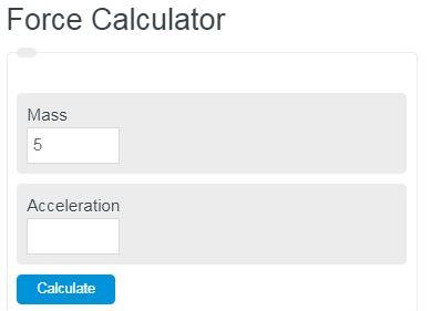 force calculator