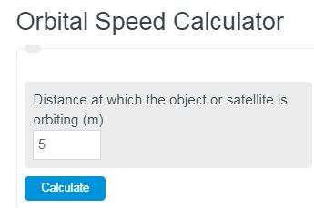 orbital speed calculator