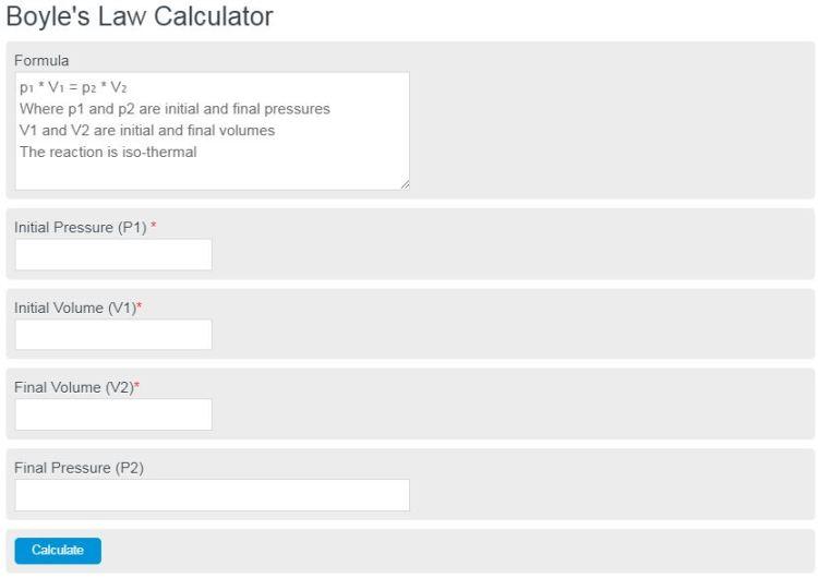 boyle's law calculator