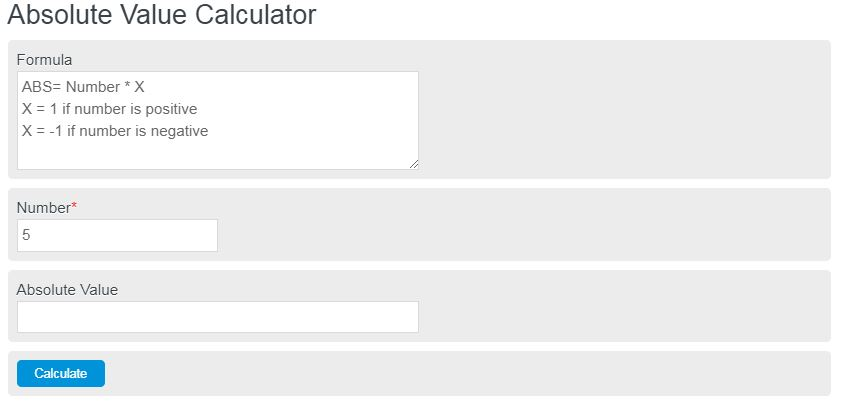absolute value calculator