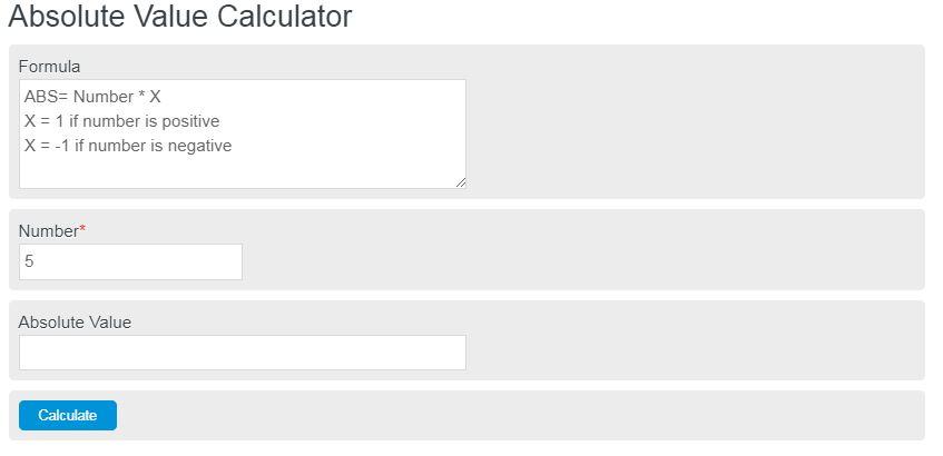 absolute value calculator