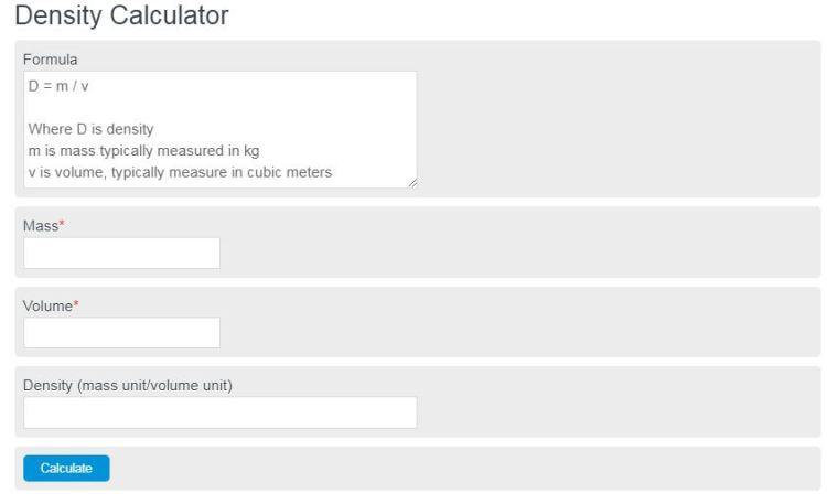 density calculator