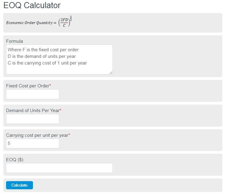 EOQ Calculator