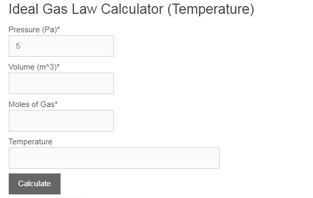ideal gas law calculator