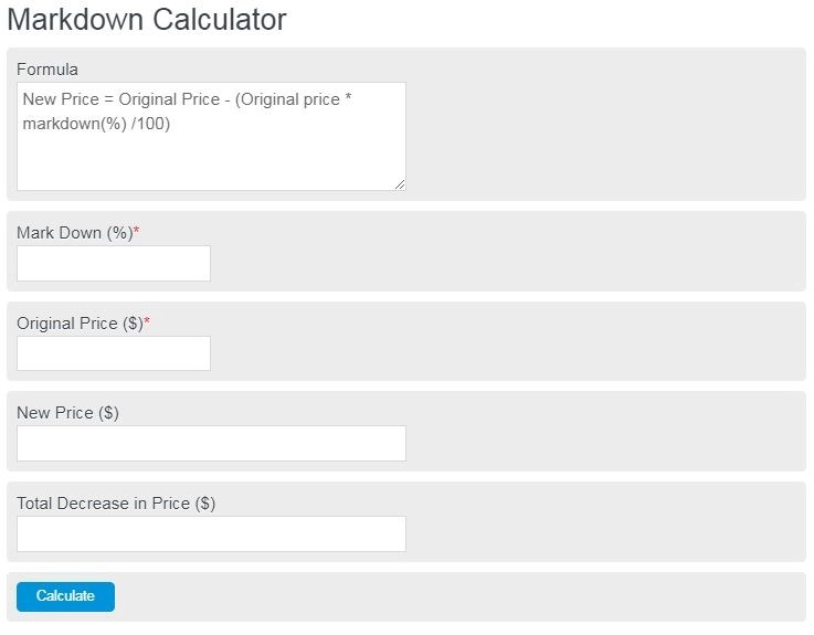 markdown calculator