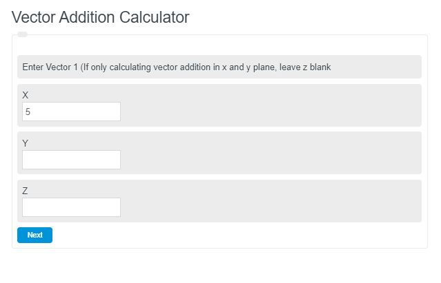 vector addition calculator