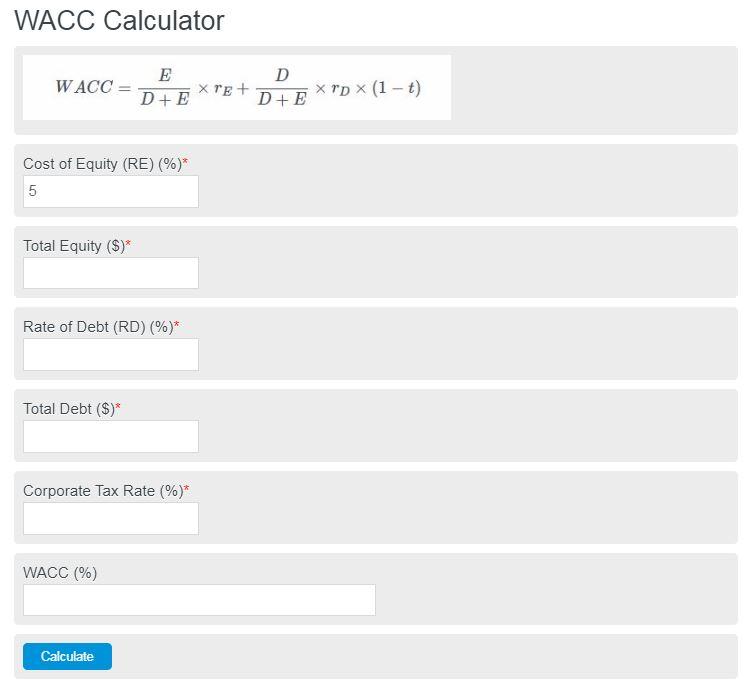 wacc calculator