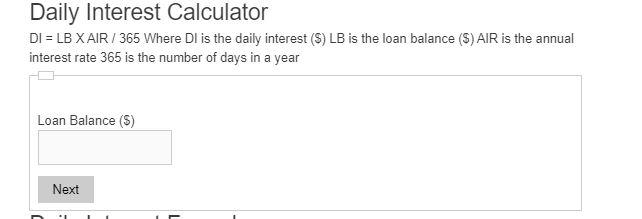 daily interest calculator