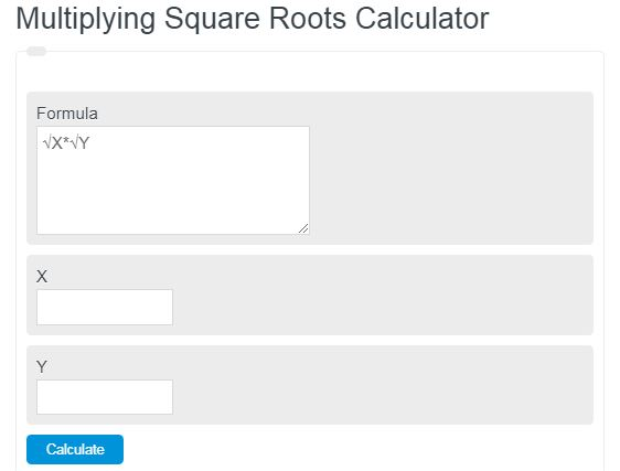 multiplying square roots calculator