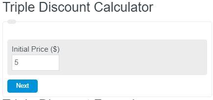 triple discount calculator