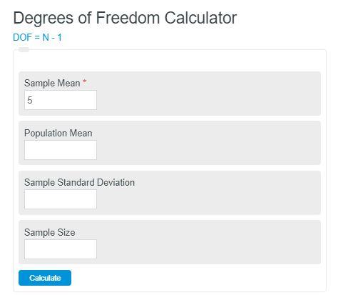 degrees of freedom calculator