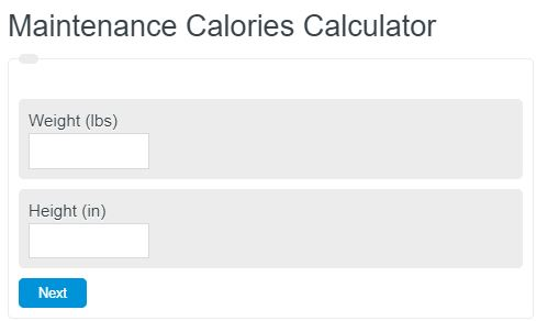 maintenance calories calculator