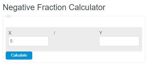 negative fraction calculator