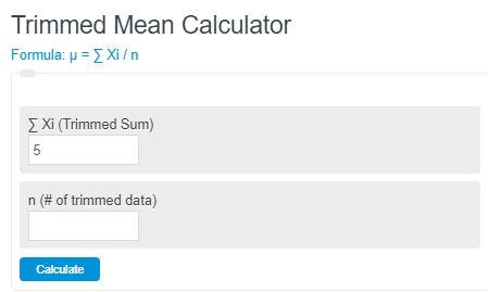 trimmed mean calculator