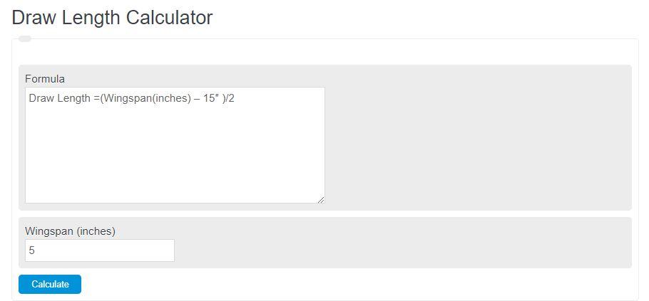 draw length calculator
