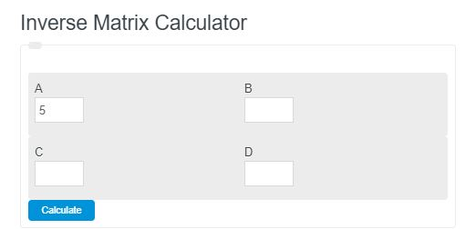 inverse matrix calculator