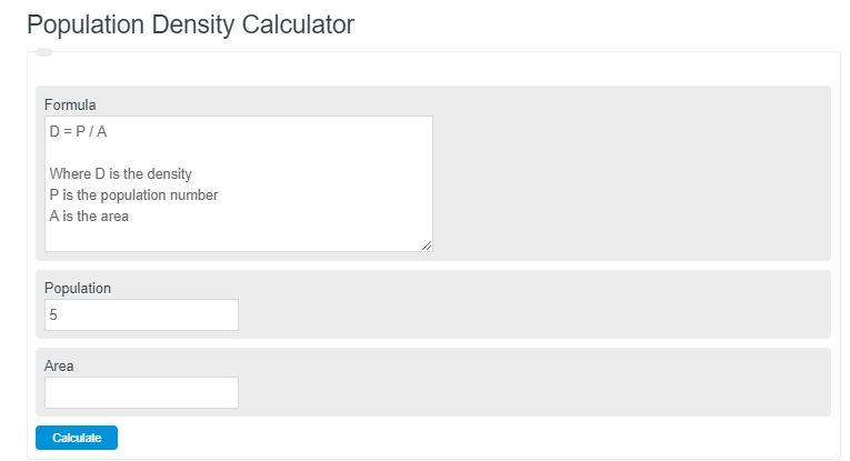 population density calculator