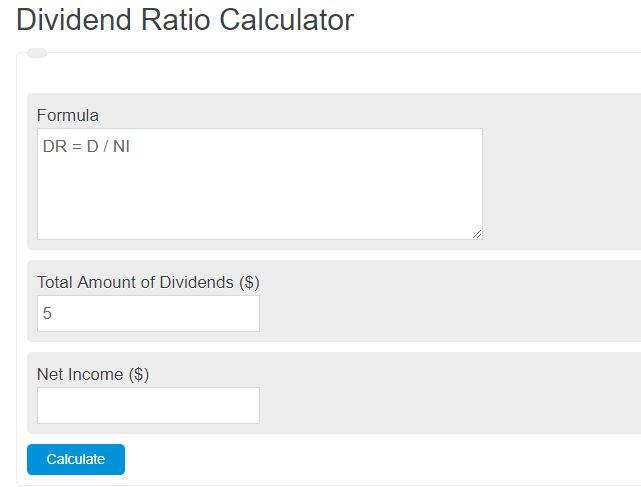 dividend ratio calculator