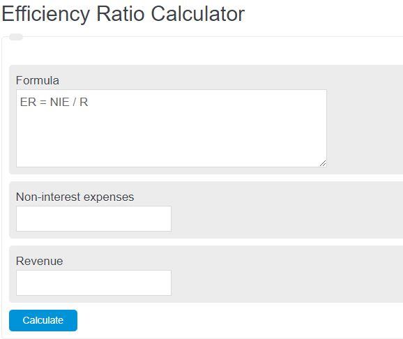 efficiency ratio calculator
