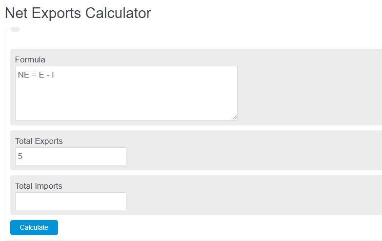 net exports calculator
