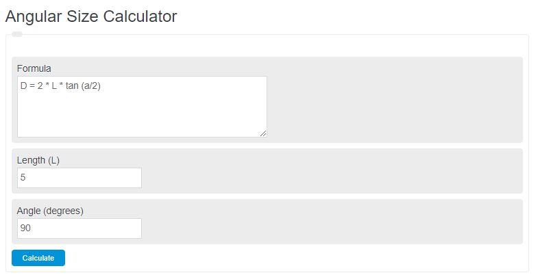 angular size calculator