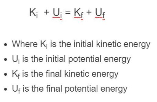 conservation of energy formula