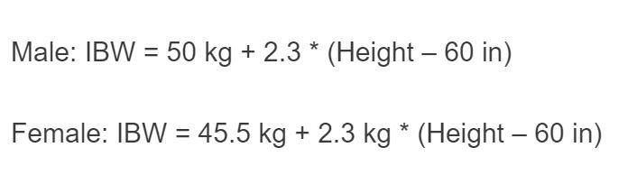 ibw formula