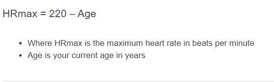 max heart rate formula