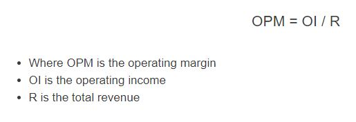 operating margin formula