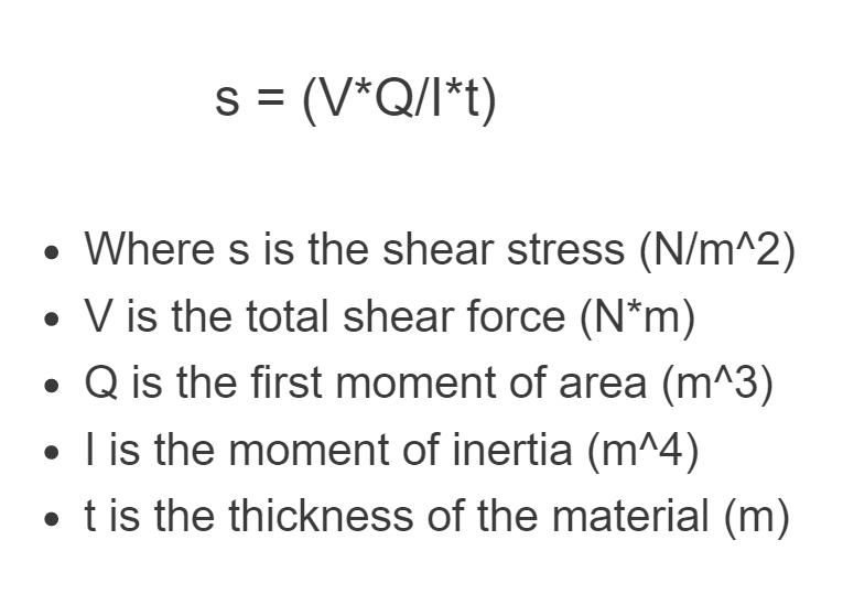 shear stress formula