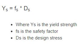 yield strength formula