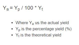 actual yield formula