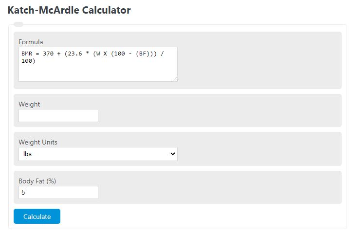 katch-mcardle calculator