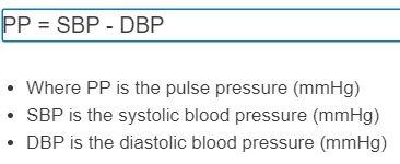 pulse pressure formula