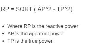 reactive power formula