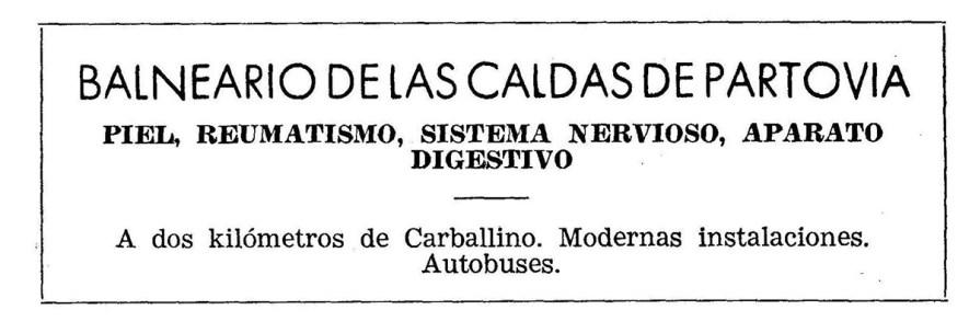 Balneario de Caldas de Partovia. Carballiño. Ourense
