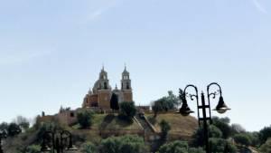 church atop the pyramid