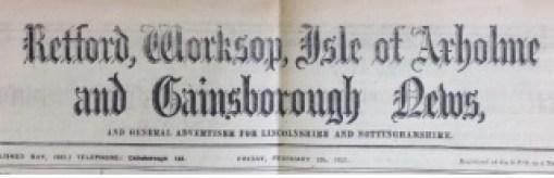Retford, Worksop, Isle of Axholme and Gainsborough News