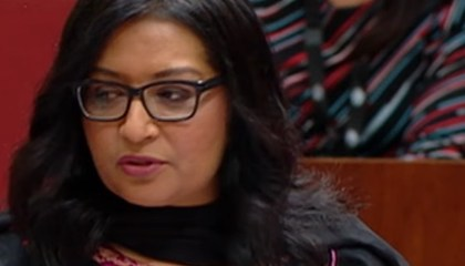 Australia's first Muslim senator accuses Australians of building their nation on invasion and land theft.