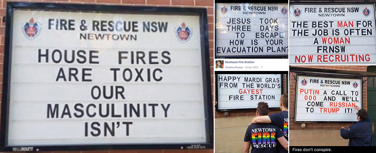 "Double Standards: Fire and Rescue NSW says, Community Board is not to push ""personal opinions or social or political agendas."""