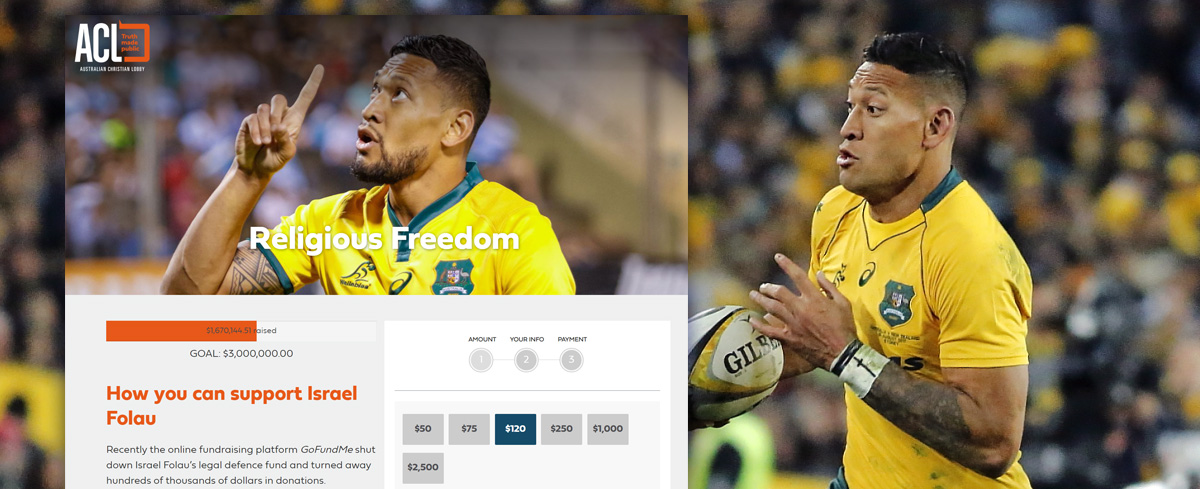 Calls for charity watchdog to investigate Australian Christian Lobby after raising $1.6 million in support of Israel Folau