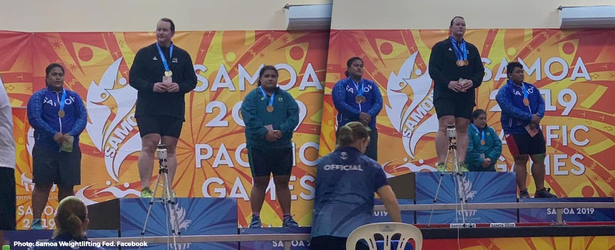 Transgender weightlifter wins gold twice in women's competition at the Samoa 2019 Pacific Games