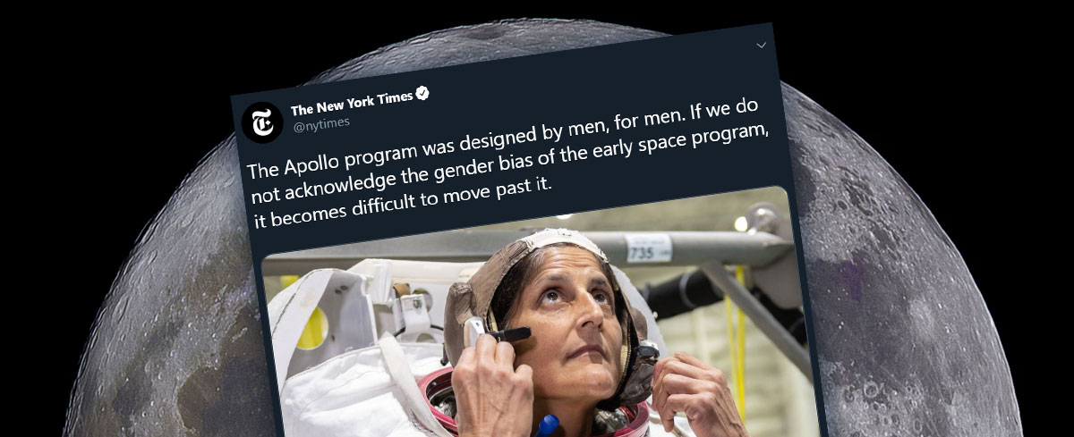 The New York Times says, the Moon landing was sexist