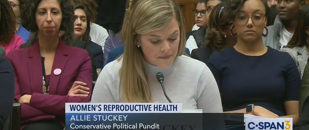 Allie Stuckey before Congressional hearing: 'Rights are not dependent on whether a person is wanted'