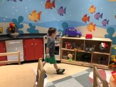 Caleb loves the playrooms at St Jude